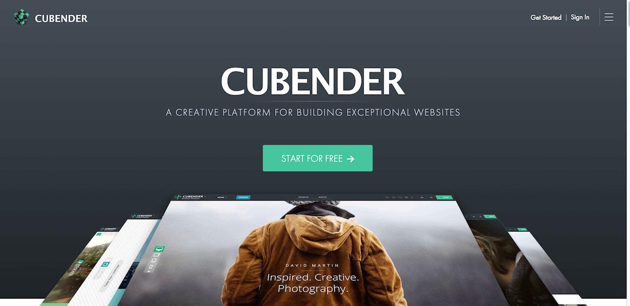 Cubender   Reponsive Website Builder   Create a website for smartphones  tablets and desktops
