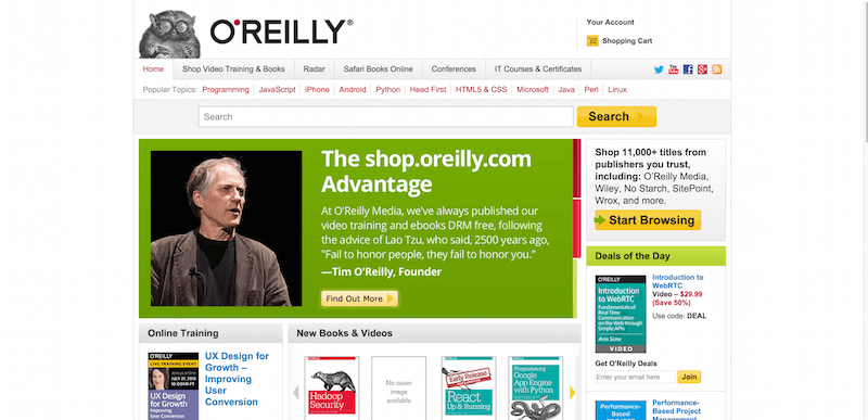 O Reilly Media   Technology Books  Tech Conferences  IT Courses  News