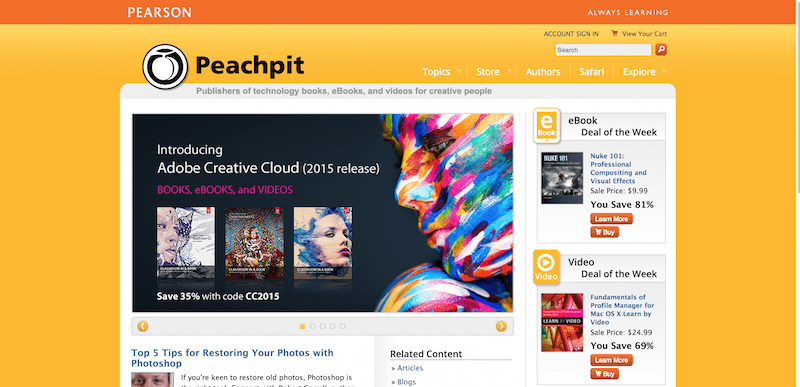 Peachpit Publishers of technology books eBooks and videos for creative people