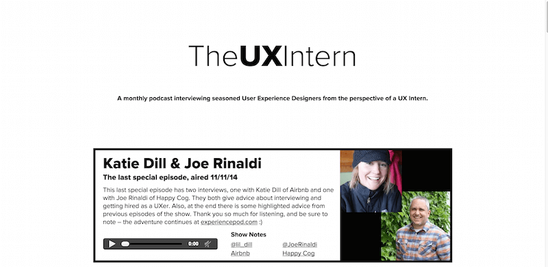 The UX Intern