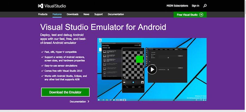 Visual Studio Emulator for Android
