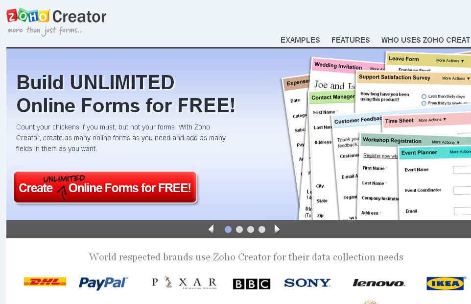 zoho creator templates - 12 best online form builders for your website