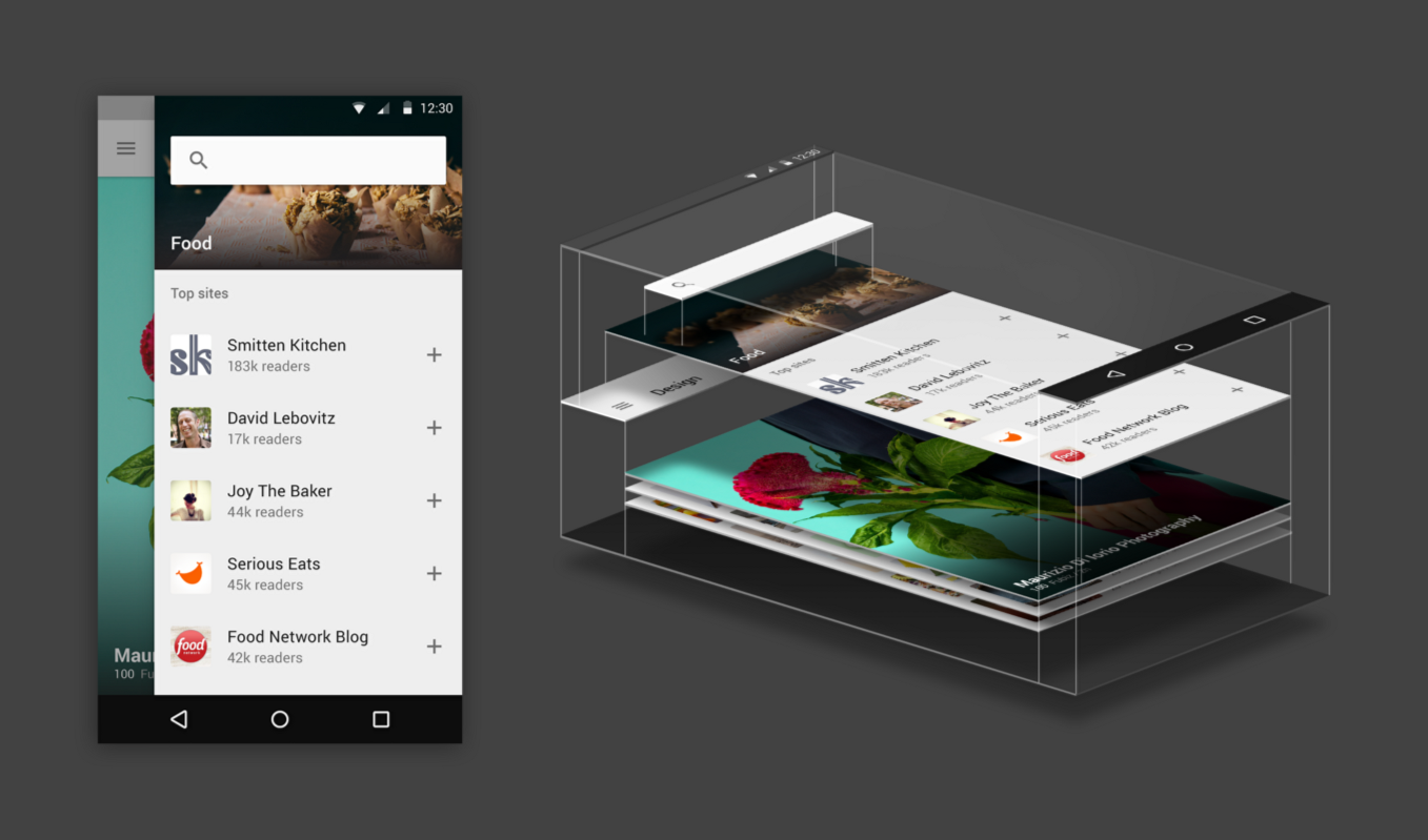 feedly material design