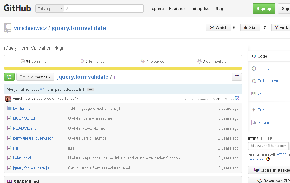 jQuery Form Validate