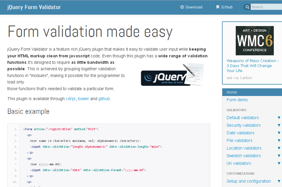 12 jQuery Plugins for Form Validation