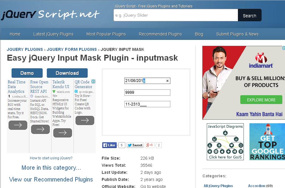 jQuery Input Mask