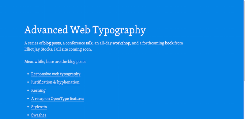 Advanced Web Typography