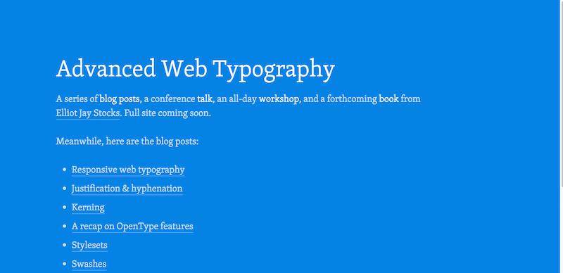 Advanced Web Typography