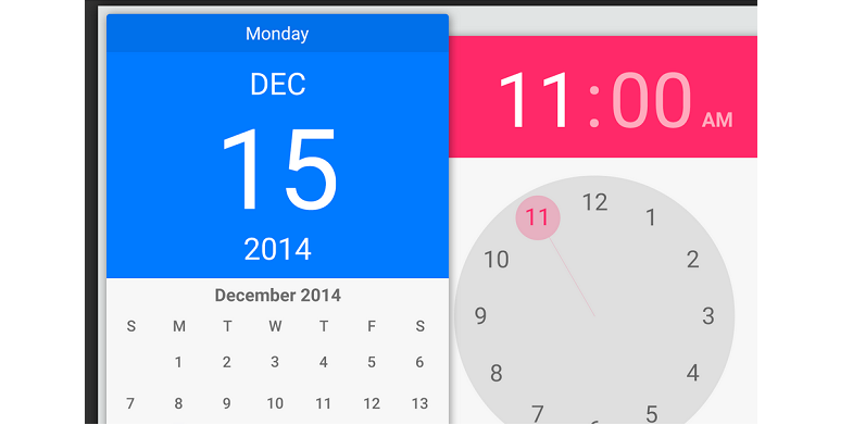 Android Lollipop Date and Time Pickers