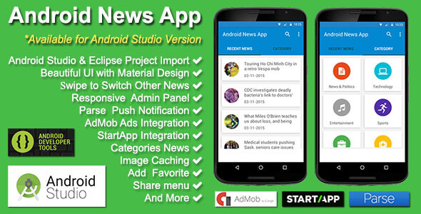 Android-News-App Template App Android Studio Free on backgrounds for developing, sign up multiple, made using, button counting, home screen, sample codes, layout entire,