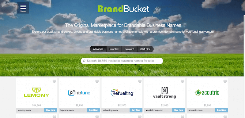 BrandBucket The Largest Brandable Business Names Marketplace