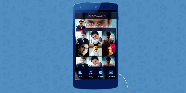Celebrity Mobile App UI