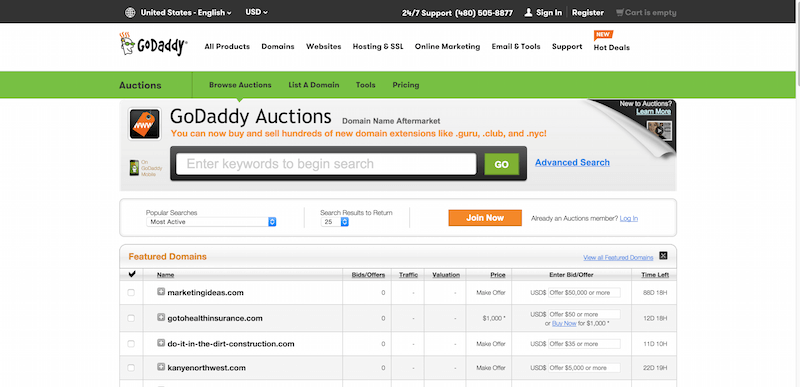 Domain Auction   Buy   Sell Distinctive Domains   GoDaddy