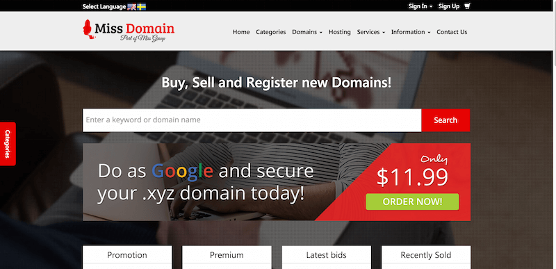 Domain Names Sell domains Buy Domains MissDomain