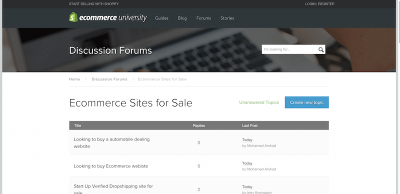 Ecommerce Websites for Sale   Buy and Sell Websites — Ecommerce University