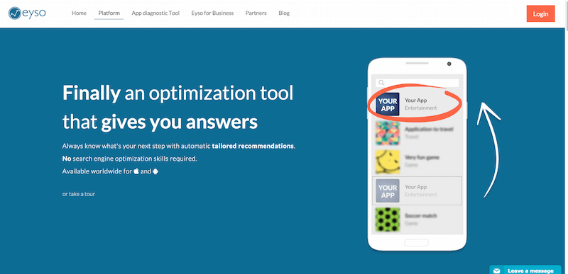 Eyso Platform  Optimize your iOS and Android App with our App Store Optimization Tool