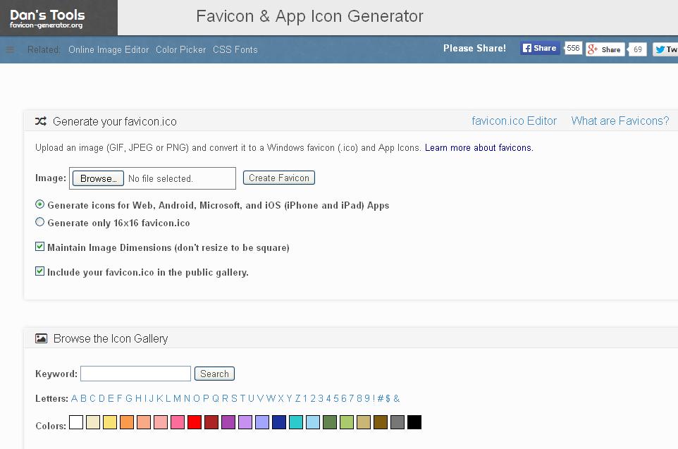 Favicon & App Icon Generator