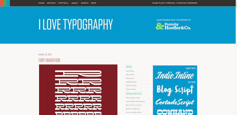 Fonts typefaces and all things typographical — I love Typography ILT