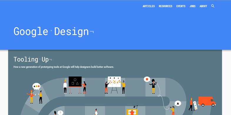 Google Design webpage