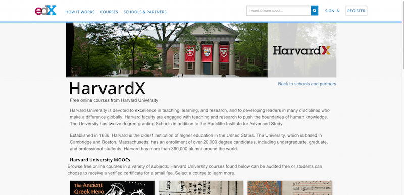 HarvardX   Free Courses from Harvard University   edX