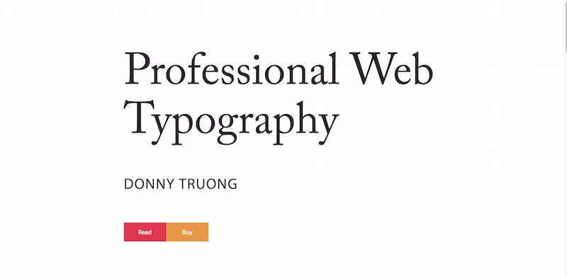 Home   Professional Web Typography by Donny Truong