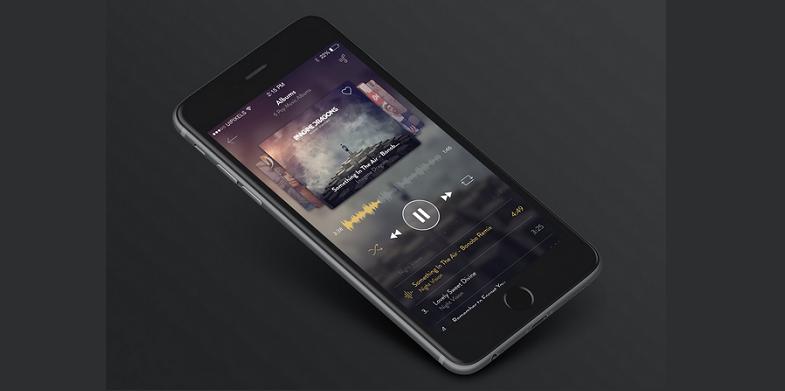 IPhone 6 Music App Design