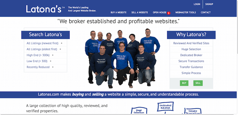 Latona s Website Brokerage   Established Websites for Sale