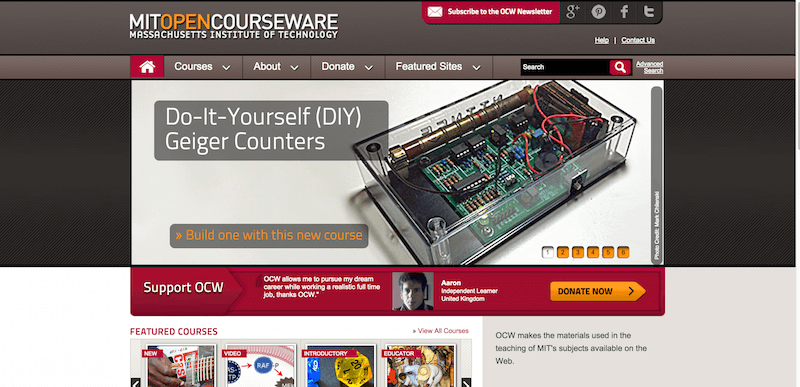MIT OpenCourseWare Free Online Course Materials