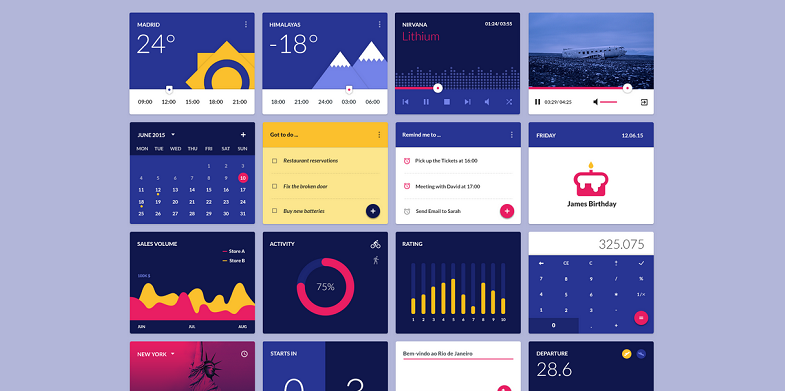 Material Design Kit For Web Illustrator