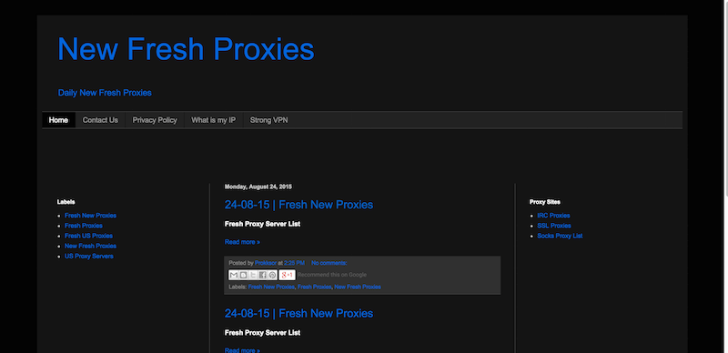 New Fresh Proxies