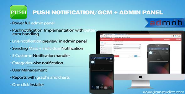 Push Notification-GCM + Admin Panel