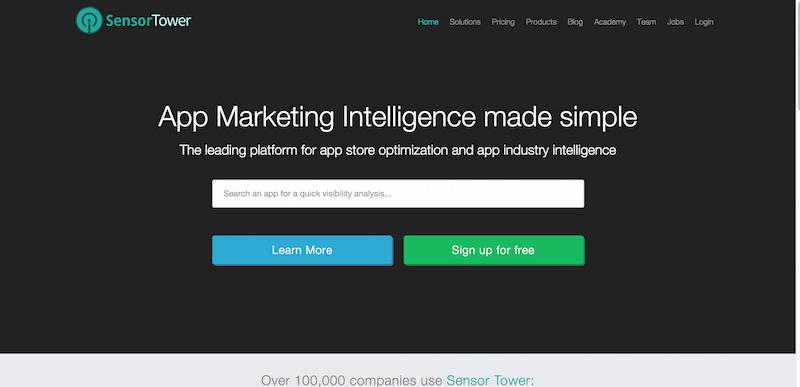 Sensor Tower   Mobile App Store Marketing Intelligence