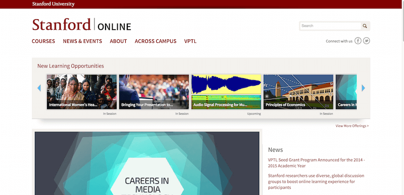 online courses stanford Harvard online learning explore harvard's extensive, world-class online learning opportunities we invite you to follow your intellectual curiosity, from podcasts and lectures to fully interactive courses and programs.
