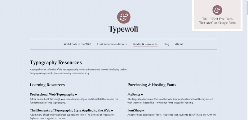 The Best Typography Resources for 2015 → Typewolf
