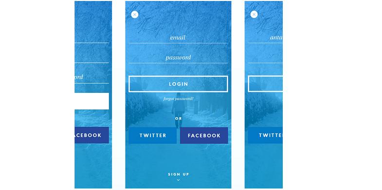 Winter UI Kit PSD for Mobile App