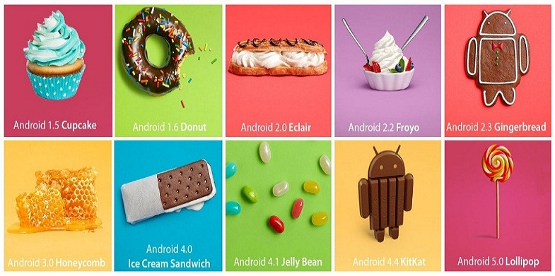 latest android versions