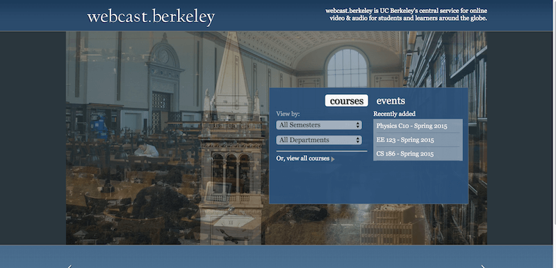webcast.berkeley   UC Berkeley Video and Podcasts for Courses   Events