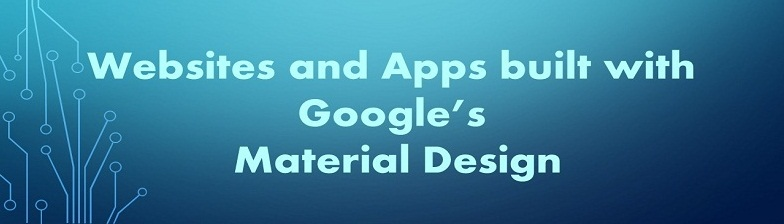 websites and apps built with material design