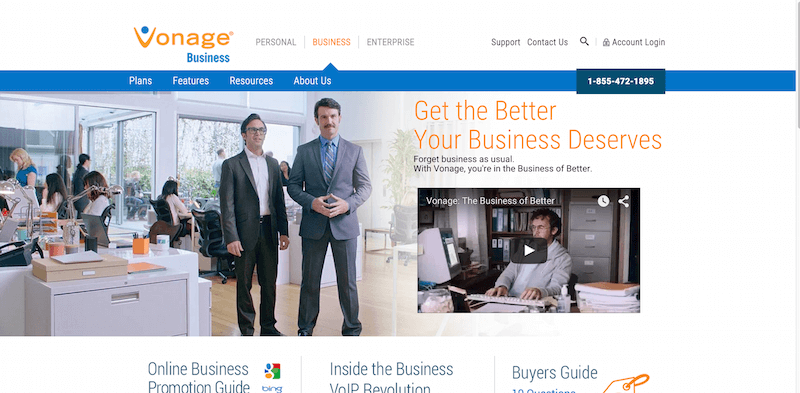 Business VoIP Phone Service   No Contracts   Vonage Business