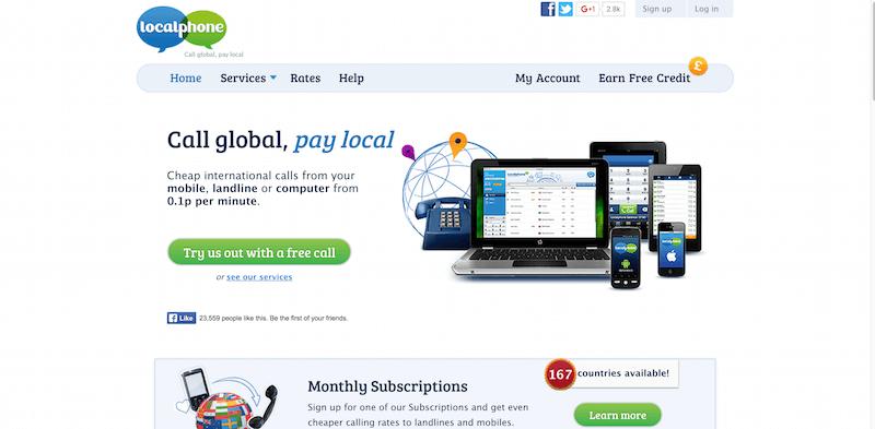 Cheap International Calls Localphone