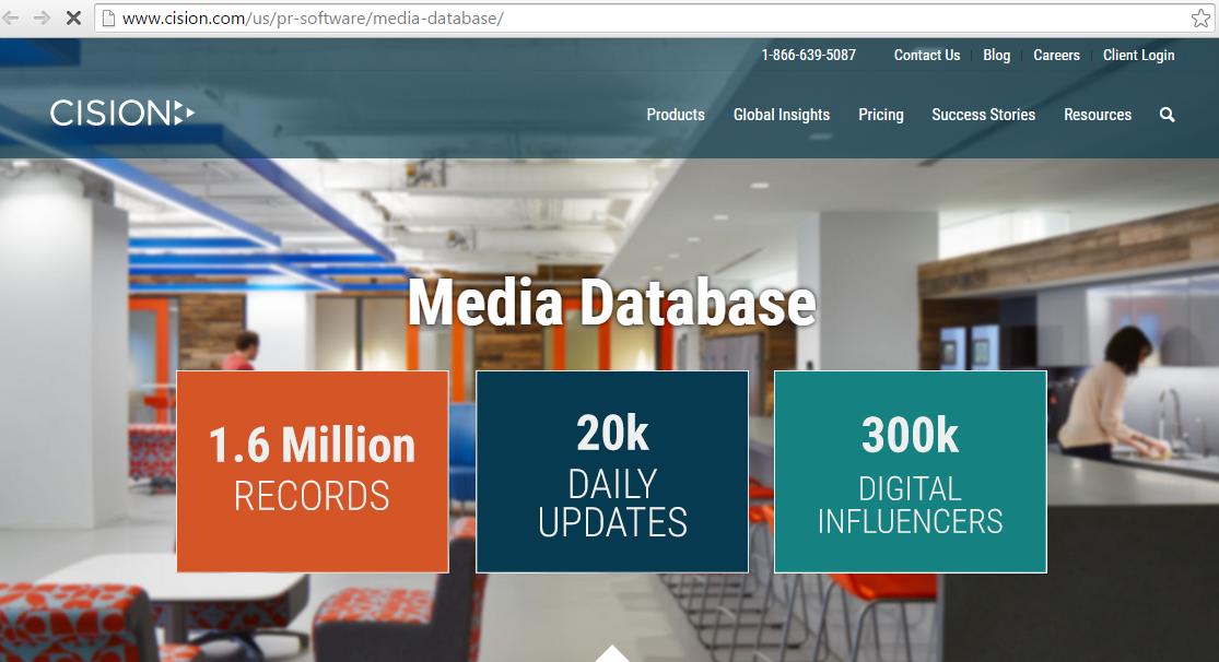 Cision Media Database