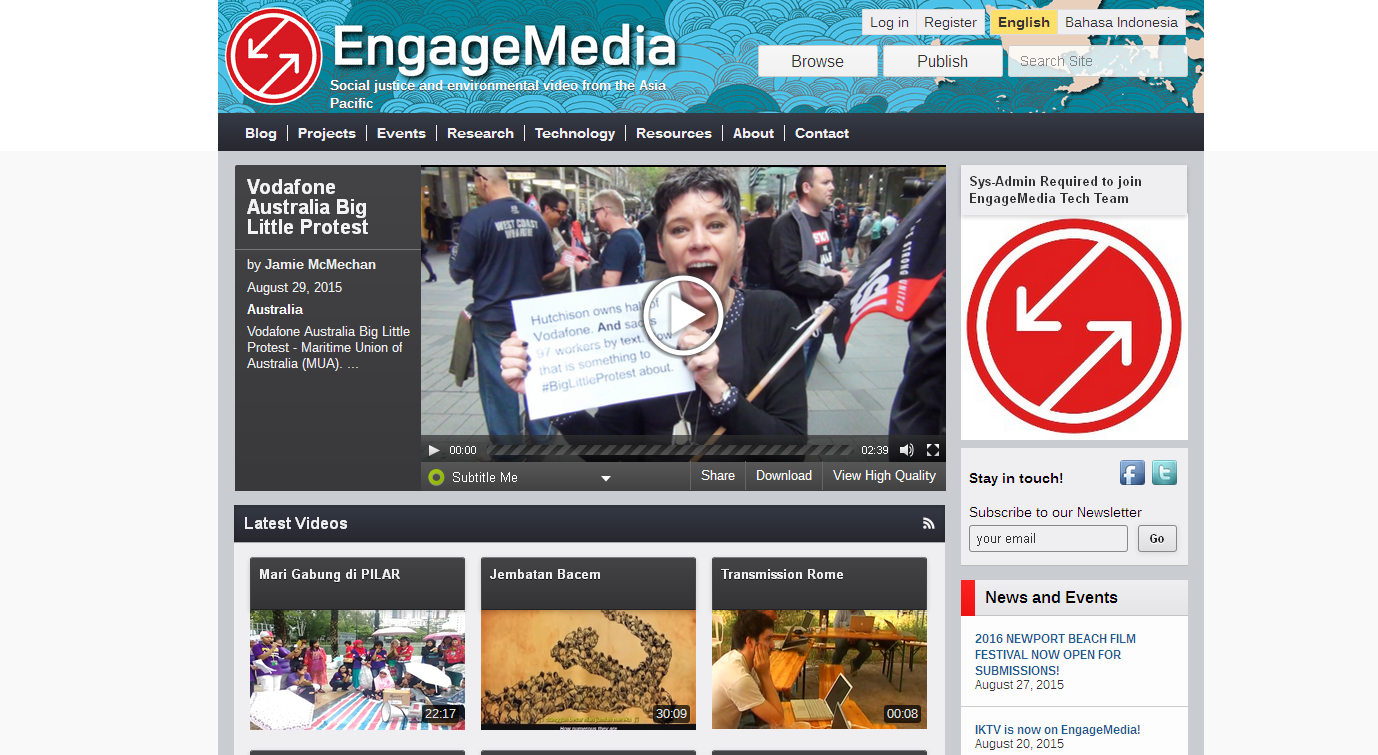 EngageMedia to upload videos