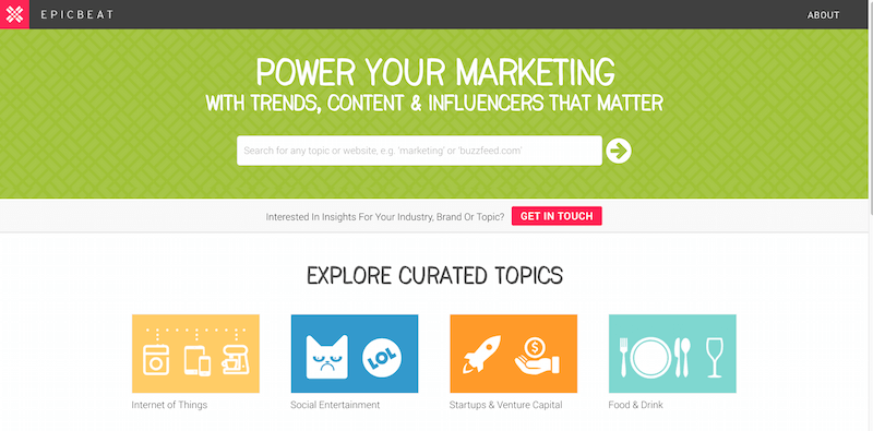 EpicBeat  Find Trends  Content   Influencers That Matter