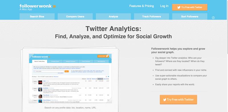 Followerwonk  Twitter analytics  follower segmentation  social graph tracking    more