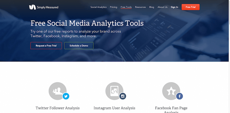 Free Social Media Analytics Tools   Simply Measured