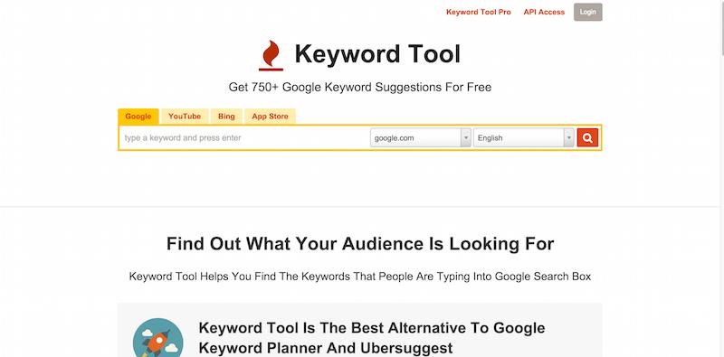 Keyword Tool  FREE Alternative to Google Keyword Planner