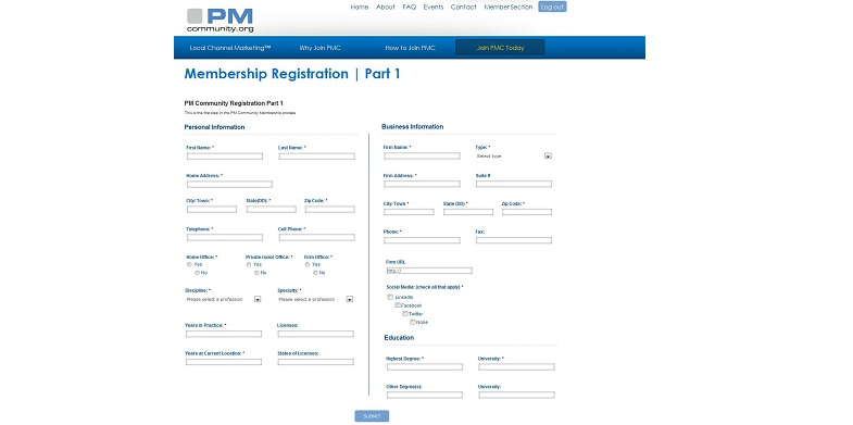 Lengthy Registration Form