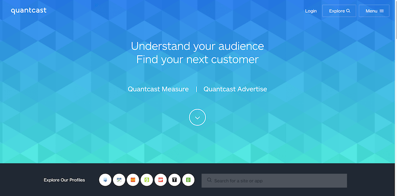 Measure   Advertise   Quantcast