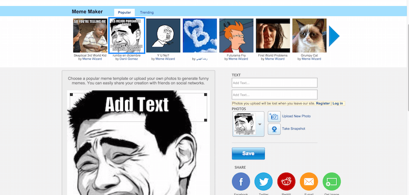 Meme Maker   Generate funny memes   ImageChef
