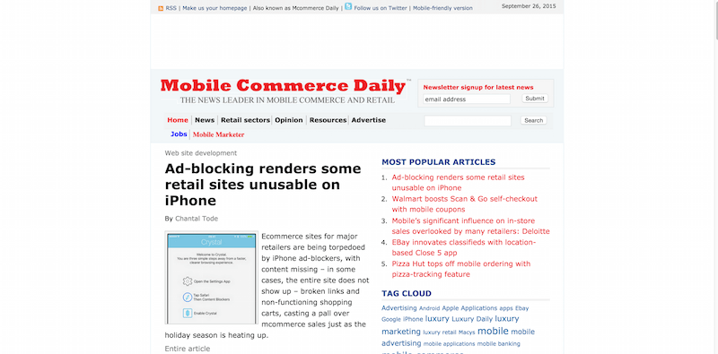 Mobile Commerce Daily
